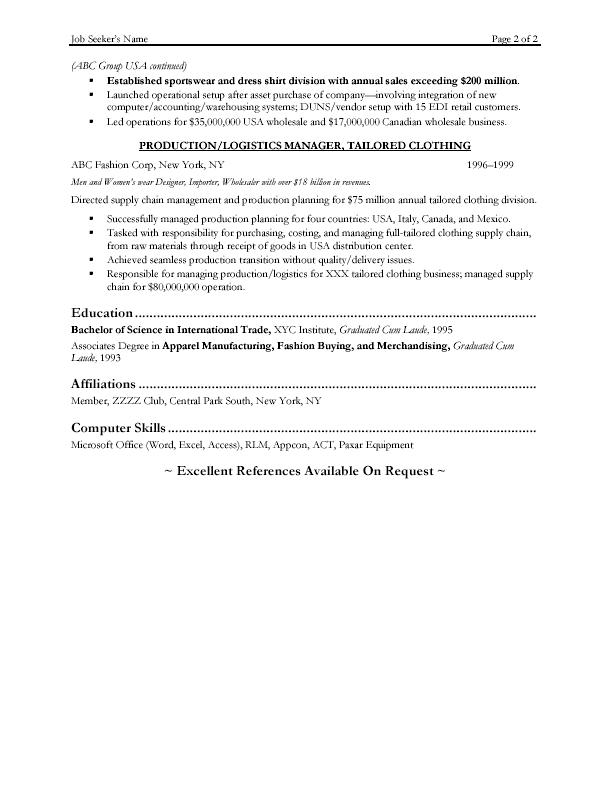 Operations Manager Resume Sample – Operations Manager Resume